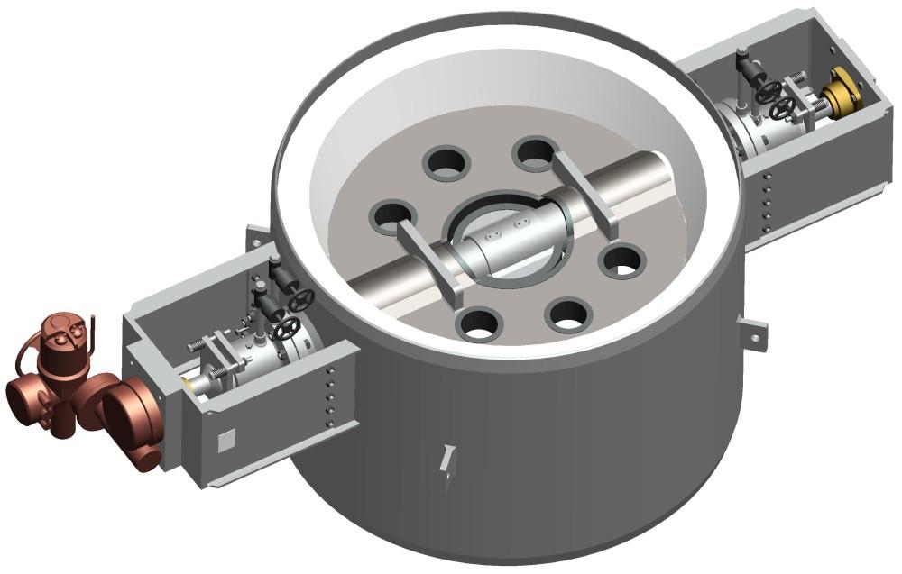 variable orifice valve rendering